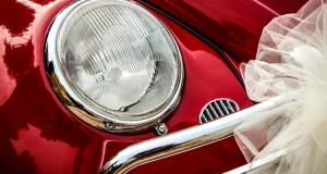 Samochód do ślubu dekoracje DIY