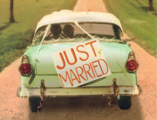 Napis na ślubny samochód