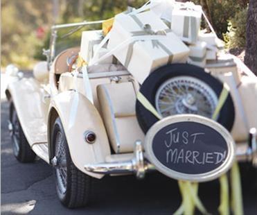 Napis na samochód do ślubu