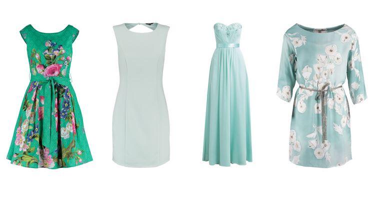 Miętowe sukienki na wesele